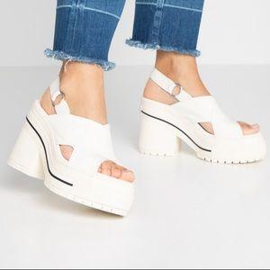 Converse One Star White Platform Sandal